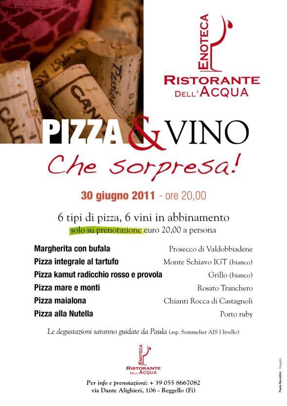 """Evento degustazione """"Pizza & Vino"""" (locandina)"""