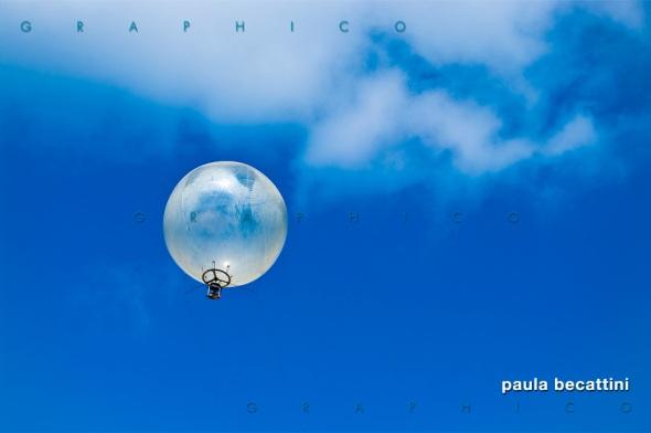 Palloncino frenato per fotografia aerea