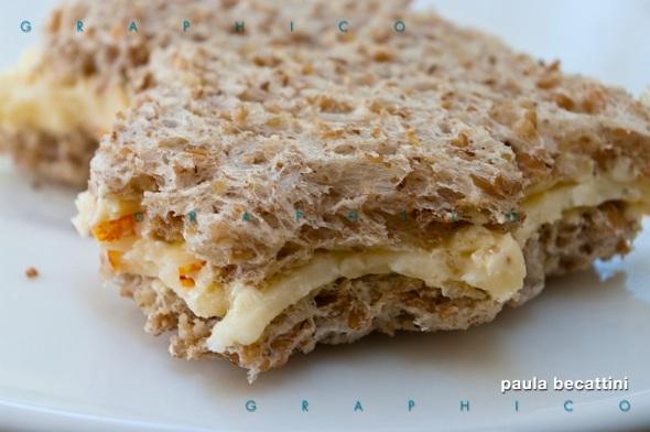 Sandwich con burro e formaggio di Orval