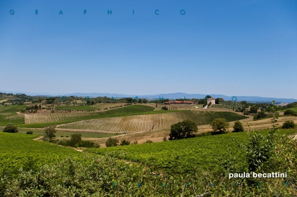 Campagna Toscana nei pressi di Montepulciano