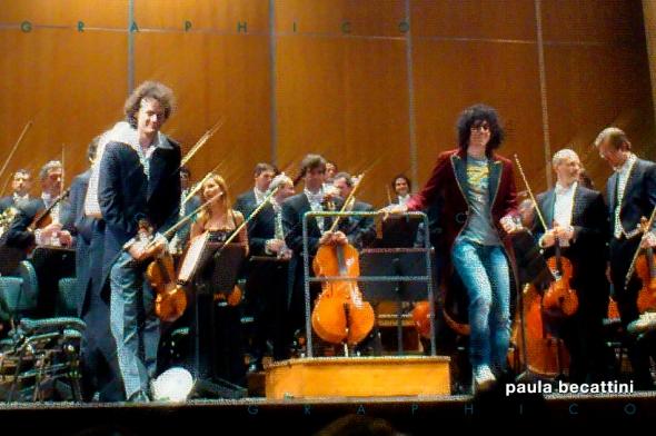Giovanni Allevi e Mariusz Patyra sul palco