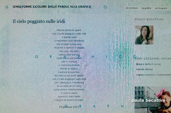 Schermata del blog