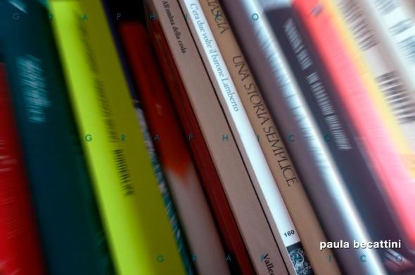 Libri su di uno scaffale