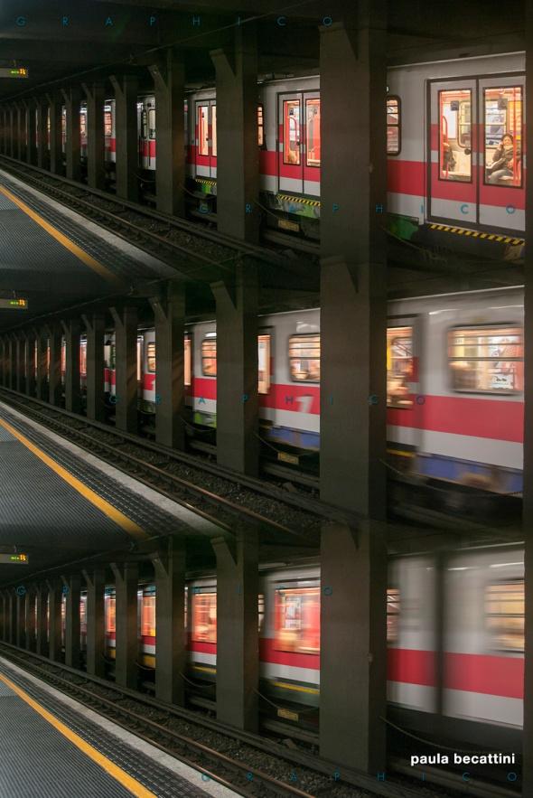 Partenza alla metro di Milano