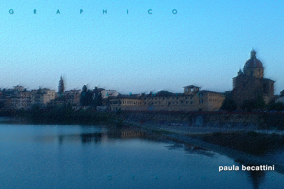 L'Arno con sullo sfondo la Chiesa di San Frediano in Cestello