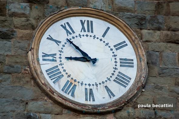 Orologio del campanile della Pieve di Cascia (Reggello - Fi)