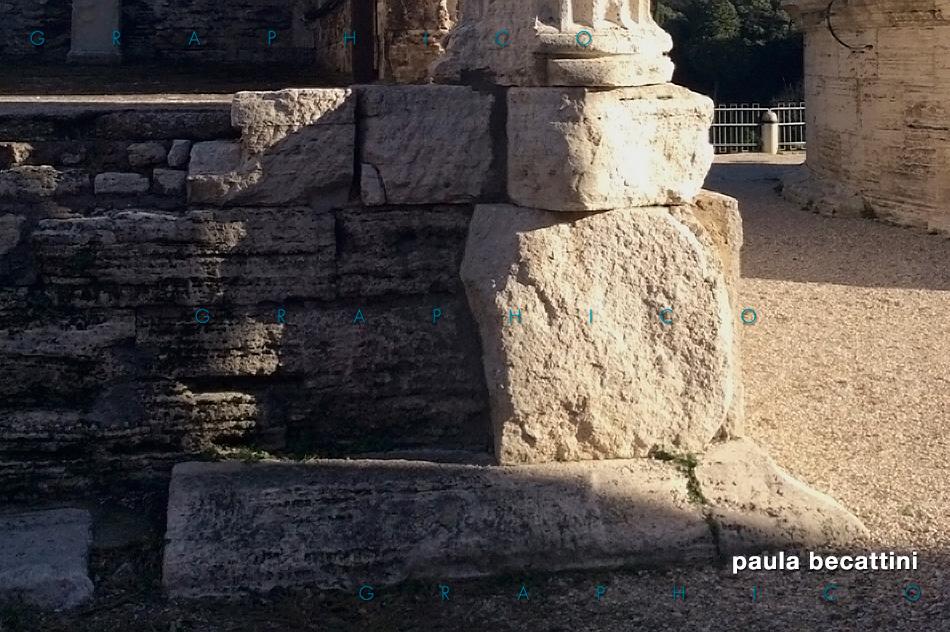 Tempio di Vesta a Tivoli: basamento