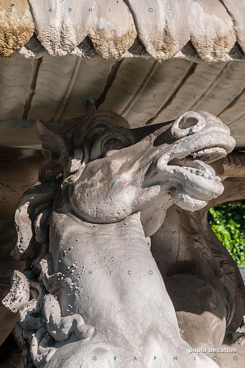 Fontana dei Cavalli dei Marini - Villa Borghese (Roma)