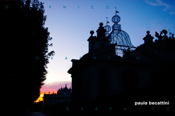 Villa Borghese: tramonto