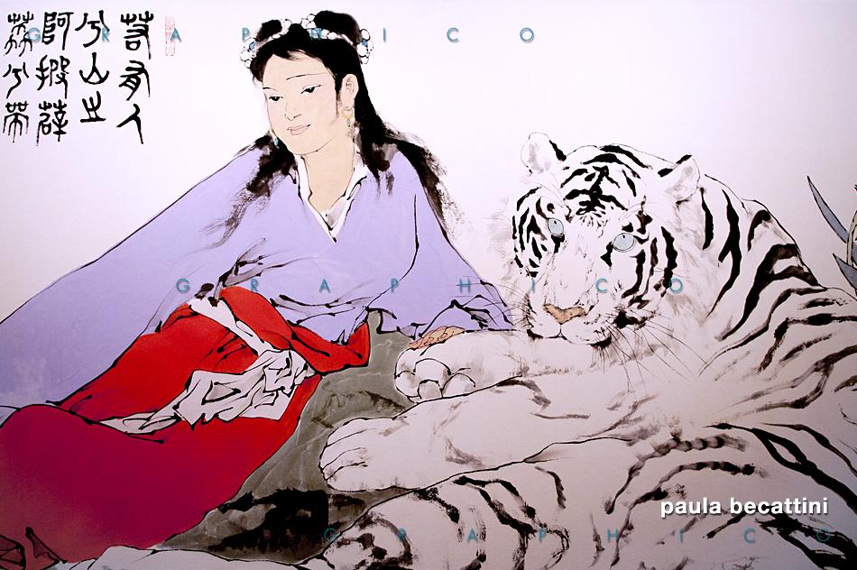 Particolare di una pittura di Fan Zeng