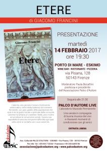 """Presentazione del libro """"Etere"""" - Locandina"""